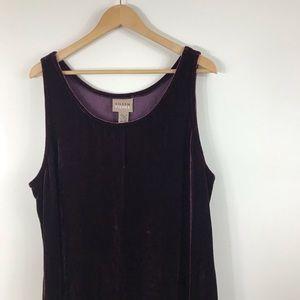 Eileen Fisher Dresses - EILEEN FISHER | Burgundy Velvet Maxi Tank Dress